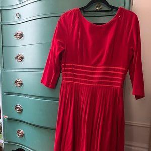 Vintage 1950s Velveteen Dress